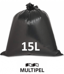 Saco Lixo Preto Reforçado 15 Litros 0,06 com 5 Kg