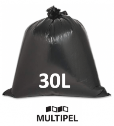Saco Lixo Preto Reforçado 30 Litros 0,07 com 5 Kg