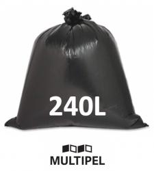 Saco Lixo Preto Reforçado 240 Litros 0,12 com 5 Kg