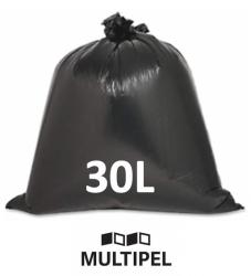 Saco Lixo Preto Reforçado 30 Litros 0,07 com 1 Kg