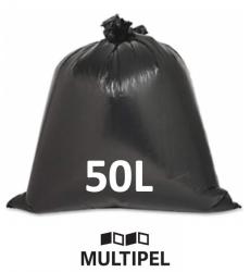 Saco Lixo Preto Reforçado 50 Litros 0,08 com 1 Kg