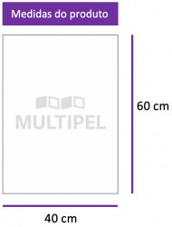 Saco Plástico 40X60 cm 0,06 com 1 Kg