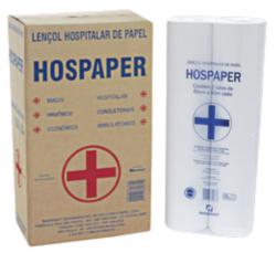 Lençol Hospitalar de Papel 50cm pacote com 2 rolos x 50 metros