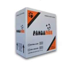 Papel Higiênico Rolão Panda Free 100% Celulose 10cmx300mt - CAIXA 8 rolos