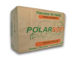 Papel Toalha Interfolha Polar Soft Extra Luxo 23x26,5cm 3 Dobras - 5 x 250 Toalhas