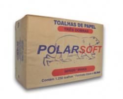Papel Toalha Interfolha Polar Soft Branco 23x26,5cm 3 Dobras - 5 x 250 Toalhas
