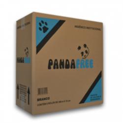 Papel Higiênico Rolão Panda Free Branco 10cmx300mt -  Caixa 8 rolos