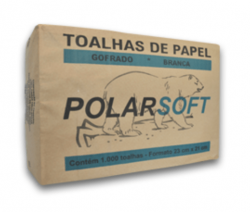 Papel Toalha Interfolha Polar Soft Branco 23x21cm 2 Dobras - 4 x 250 Toalhas