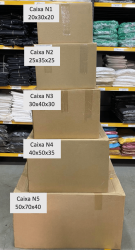 Caixa de Papelão Pardo N5 (50x70x40) Unitária