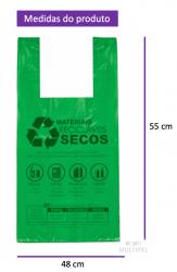 Sacola Lei Municipal Verde 48x55cm Pacote com 500 un.