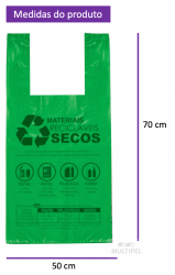 Sacola Lei Municipal Verde 50x70cm Pacote com 310 un.