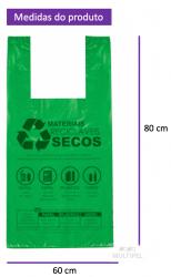 Sacola Lei Municipal Verde 60x80cm Pacote com 160 un.