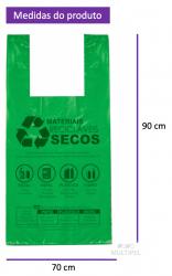 Sacola Lei Municipal Verde 70x90cm Pacote com 125un.