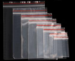 Saco ZIPBAG 12x18cm 0,10  pacote com 100 un.