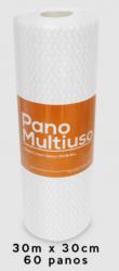 Pano Multiuso Slim  30m x 30cm Branco