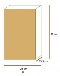Saco de Papel Kraft Liso Fundo SOS G (24x31x15,5) Pacote 50 un.
