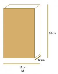 Saco de Papel Kraft Liso Fundo SOS M (19x26x12) Pacote 50 un.