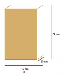 Saco de Papel Kraft Liso Fundo SOS P (17x24x10) Pacote 50 un.