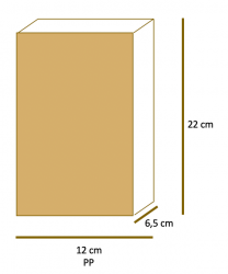 Saco de Papel Kraft Liso Fundo SOS PP (12x22x6,5) Pacote 50 un.