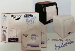 Guardanapo de Papel Americano Bigger  Pluma Luxo 20,5cm X 24cm pacote com 100 un.