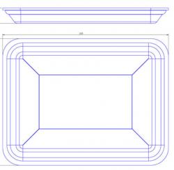 Bandeja de Isopor Funda Leve (23,5x18) CFL-003 Caixa com 400 un.