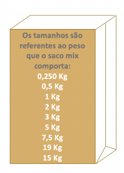 Saco de Papel Mix Pardo Liso 15 kg  Pacote 500 un.