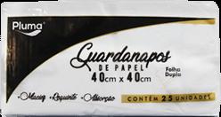 Guardanapo de Papel Folha Dupla Pluma 40x40cm pacote com 25 un.