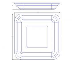 Bandeja de Isopor Rasa Leve (15x15) CRL-001 Caixa com 400 un.