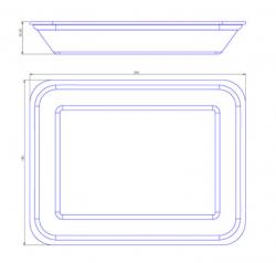 Bandeja de Isopor Funda Leve (23,5x18) CFL-003 Pacote com 50 un.