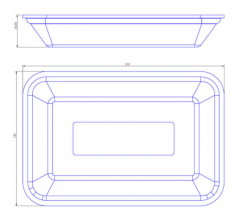 Bandeja de Isopor Funda Leve (21x14) CFL-002 Pacote com 50 un.