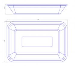 Bandeja de Isopor Funda Leve (21x14) CFL-002 Caixa com 400 un.