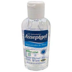 Álcool Gel 70° Antisséptico Hidratante Asseptgel Cristal 52g