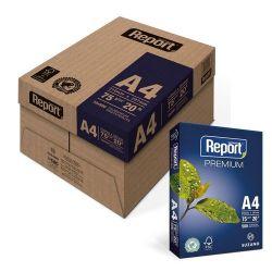 Papel Sulfite A4 Report Premium 75g Caixa 10 pacotes de 500 Folhas.
