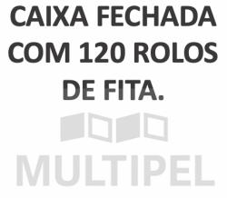Fita Adesiva PP 48mmx45mt Qualitape Transparente Caixa com 120 Rolos