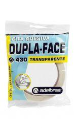 Fita Adesiva Dupla face Transparente 12mmx30mt com 1 Rolo