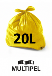 Saco Lixo Amarelo 20 Litros 0,06 com 100 un.