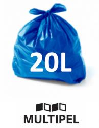 Saco Lixo  Azul 20 Litros 0,06 com 100 un.