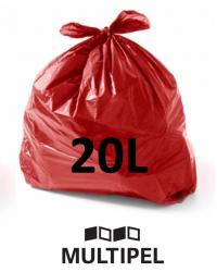 Saco Lixo Vermelho 20 Litros 0,06 com 100 un.
