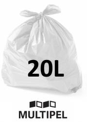 Saco Lixo Branco 20 Litros 0,06 com 100 un.