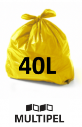 Saco Lixo  Amarelo 40 Litros 0,06 com 100 un.