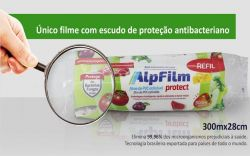 Refil Filme PVC - Plástico Filme Esticável 38cm x 300mt
