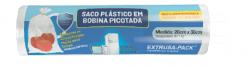 Saco Plástico em Bobina Picotada 20x33 Rolo com 100 Sacos