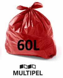 Saco Lixo Vermelho 60 Litros 0,06 com 100 un.