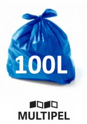 Saco Lixo Azul 100 Litros 0,07 com 100 un.