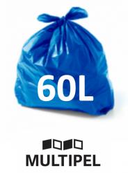 Saco Lixo Azul 60 Litros 0,06 com 100 un.