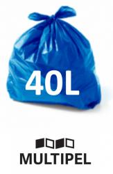 Saco Lixo Azul 40 Litros 0,06 com 100 un.