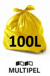 Saco Lixo Amarelo 100 Litros 0,07 com 100 un.