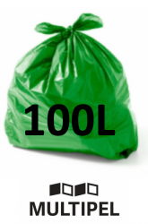 Saco Lixo Verde 100 Litros 0,07 com 100 un.