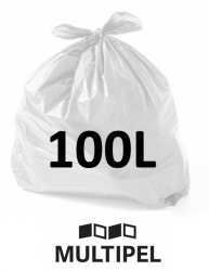 Saco Lixo  Branco 100 Litros 0,07 com 100 un.
