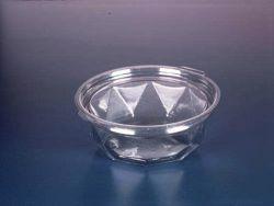 Pote Redondo Diamante Tampa Articulada  350ml Pacote com 10 cj.